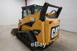 Cat 257b2 Cab Skid Steer Track Loader, 57 Hp, Ac/heat, Tempered Glass Door