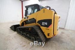 Cat 277c Cab Track Skid Steer Loader, Heat, New Tracks, 2 Speed, Float Control