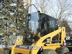 Caterpillar 257 B Cat 1/2 EXTREME DUTY door+ cab enclosure. Skid steer loader