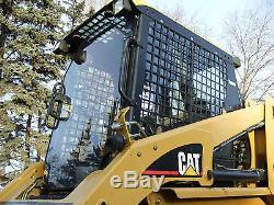 Caterpillar 287 B Cat 1/2 EXTREME DUTY door+ cab enclosure. Skid steer loader