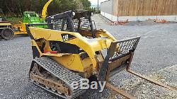Caterpillar 287 tracked skid steer multi terrain loader, low hours excavator