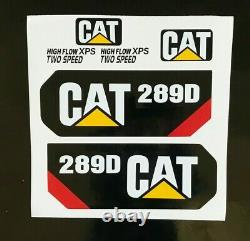 Caterpillar 289D Decal Kit cat stickers 2014 + USA fast free shipping