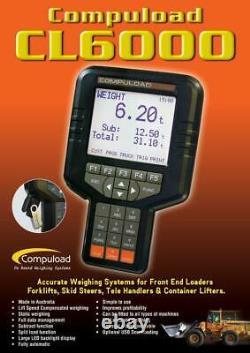 Compuload CL6000 Electronic Scales Front End Loader Skid Steers Forklift etc