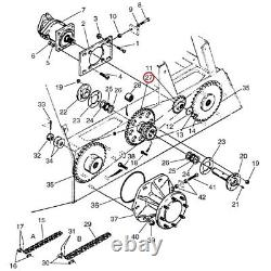 D76529 Chain Drive Sprocket Fits Case-IH Skid Steer Loader 1845C 1845 1845B 1845