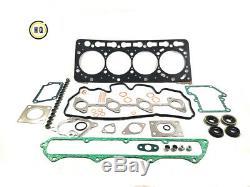 Full Gasket Set With Head Gasket For Kubota, Bobcat, 1C020-03310, V3300, V3300T