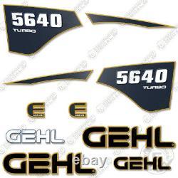 GEHL 5640 Turbo Decal Kit Skid Steer Decals