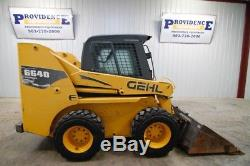 Gehl 6640e Wheel Skid Steer Loader, High Flow, Two Speed, Only 1574 Hours