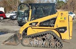 Genuine 2011 Caterpillar 247b3 Tracked Skid Steer Loader Enclosed Cab
