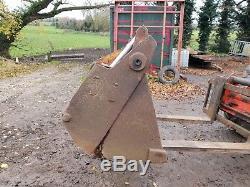 Grab bucket muck fork 4 in1 loader tractor skid steer telehandler can deliver
