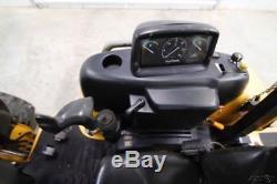 John Deere 110 4x4 Backhoe Loader, Skid Steer Quick Attach, 24 Bucket