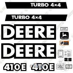 John Deere 410E Decal Kit Backhoe Equipment Decals