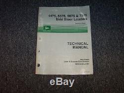 John Deere 4475 5575 6675 7775 Skid Steer Loader Service Repair Manual TM1553