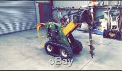 Kang Kid skid steer loader With Post Knocker And Augers