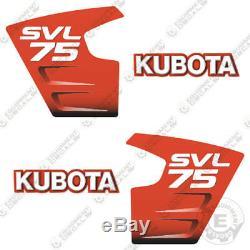 Kubota SVL 75 Decals Skid Steer Replacement Decals