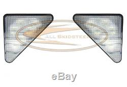 LED Headlight Kit RH and LH Lamps Flood Beam Bobcat 763 T190 773 753 S185 Skid