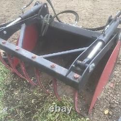Log Grab/Bucket Grab 1.2 M, Unused, Removable Sides Suit Small Loader/Skid Steer
