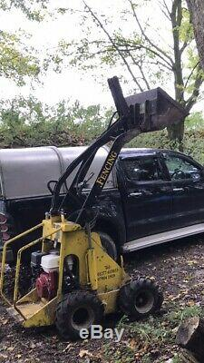 Mini Opico skid steer loader, Digga Auger, Grab Tree Surgeon