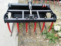 Muck Grab 1.2m for skid steer, mini-loader includes Euro Brackets