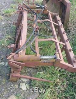 Muck Grab. Quickie brackets. 5ft wide Skid Steer Loader Telehandler Loadall