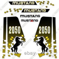 Mustang 2050 Decal Kit Skid Steer Replacement Stickers 3M Vinyl