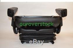 New Low Profile Suspension Seat With Armrest Dozer Backhoe Tractor Skidsteer
