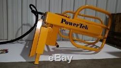 PowerTek Skid Loader Steer Hydraulic Bale Grabber Gripper Squeeze
