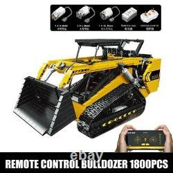 Remote Control Bulldozer APP RC Skid Steer Loader Building Block Car Toys NEW