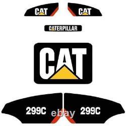 STICKER SET SKID STEER CATERPILLAR CAT DECAL KIT LOADER 299C or 262C