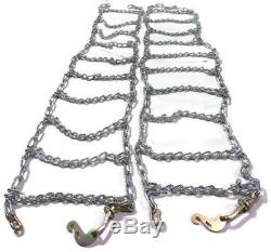 Skid Steer Uni-loader Tire Chains twist link hardened 12-16.5 12X16.5