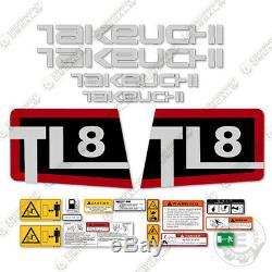 Takeuchi TL 8 Skid Steer Decal Kit Equipment Decals TL8 TL-8