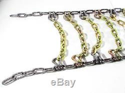 Titan Chain Skid Steer / Loader Square 2-Link Spacing Tire Chains #SS10S-2