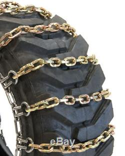 Titan Chain Skid Steer / Loader Square 2-Link Spacing Tire Chains fits 265/70R