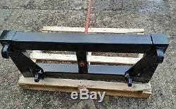 Tractor loader bale spike Euro brackets 1 spike big bale transporter skid steer