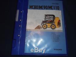 Volvo Mc80 Mc90 Mc110 Skid Steer Loader Service Shop Repair Manual Book