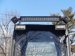 1 /2 Lexan Bobcat T550 À T850 Saftey Chargeur Skid Steer Mulcher Door Poly Lexan