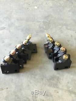 10x Trancheuse Rotary Roche Carbure Dents Bobcat Lowe Baretto Bradco Toro Case