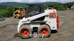 1998 Bobcat 863f Chargeuse À Direction À Glissement Besoin De Travail Veuillez Lire Attendre La Description