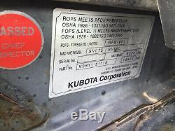 2013 Kubota Svl90 Compact Chargeuse Sur Chenilles Mini Chargeuse Avec Cabine 2spd Seulement 2800hrs