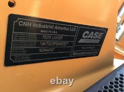 2014 Case Tr270 Compact Track Skid Steer Loader Avec Joysticks De Cabine Seulement 600 Heures