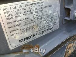 2016 Kubota Svl95-2 Compact Chargeuse Sur Chenilles Mini Chargeuse Avec Cabine 2spd 2400 Heures