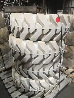 (4 Pneus) 33x12-20 / 12-16.5 Nouveaux Pneus Non Marquants Solides Pour Le Chargeur De Dérapage-direction