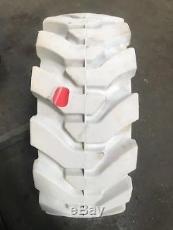 (4-pneumatiques) 33x12-20 / 12-16.5 Nouveaux Pneus Solides Sans Marquage Pour Chargeuse Compacte
