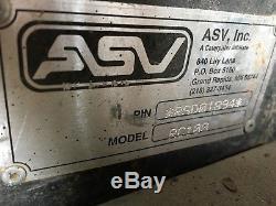 Asv Posi Track Rc100 Chargeuse Sur Chenilles À Chenilles 2006 1960hrs Modèle Pt100