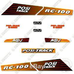 Asv Rc-100 Decal Kit De Remplacement Skid Steer Autocollants Équipement Autocollants (rc 100)