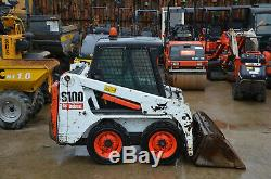 Bobcat S100 Année Chargeurs Compacts Loader 2016 Kubota Diesel 929 Heures £ 10600 + Tva
