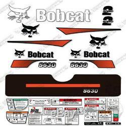 Bobcat S630 Decal Kit Skid Steer (courbé Stripes)