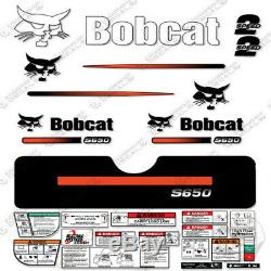 Bobcat S650 Compact Chargeuse Sur Chenilles Decal Kit Skid Steer S650 (rayures Droites)