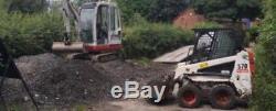 Bobcat S70 No Vat Yr2009 1800hours Chargeur À Roues Fixes + Godet Kubota Engine