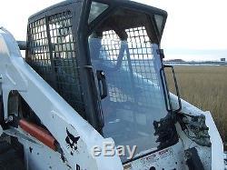 Bobcat T200 G Lexan Fenêtres Latérales 1/2 Porte Plus! Skid Loader Barre De Direction