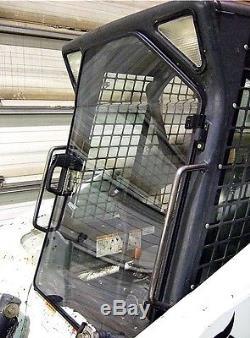 Bobcat T250 G Lexan 1/2 Porte Plus Fenêtres Latérales! Skid Loader Barre De Direction
